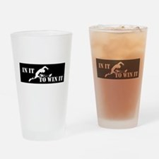 In It To Win It Track and Field Drinking Glass