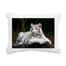 White Tiger Cub Rectangular Canvas Pillow