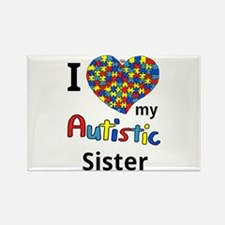 Autistic Sister Rectangle Magnet