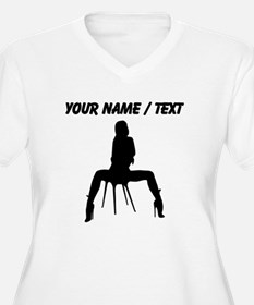 Custom Sexy Woman On Chair Silhouette Plus Size T-