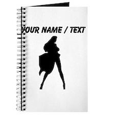 Custom Woman In Cape Silhouette Journal