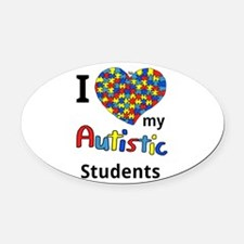 Autistic Students Oval Car Magnet