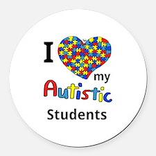 Autistic Students Round Car Magnet