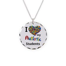 Autistic Students Necklace Circle Charm