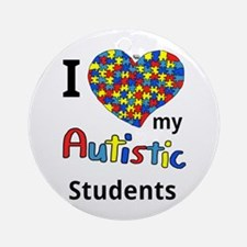 Autistic Students Ornament (Round)