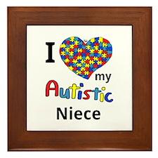 Autistic Niece Framed Tile