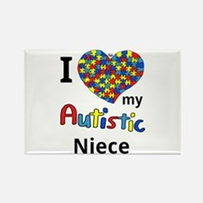 Autistic Niece Rectangle Magnet (10 pack)