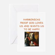 harmonica Greeting Cards