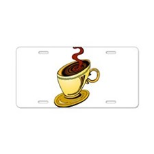 COFFEE CUP [19] Aluminum License Plate