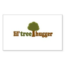lil tree hugger Rectangle Decal