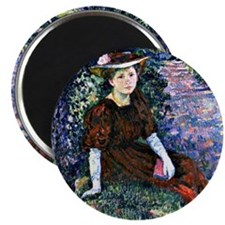 Portrait of Daisy Weber by Theo van Rysselb Magnet