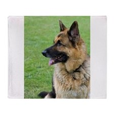 German Shepherd Profile Throw Blanket