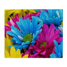 Daisies - Mixed Colors Throw Blanket