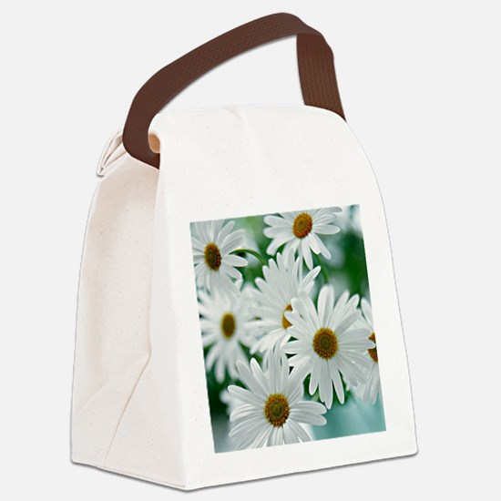 Daisies in Bloom Canvas Lunch Bag