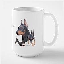 Three Dobes Large Mug