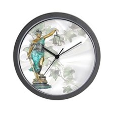 Lady Justice on Satin and Ivy Wall Clock