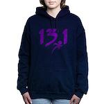 Purple 13.1 half-marathon Hooded Sweatshirt