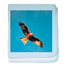 Flying Red Kite baby blanket