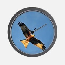 Flying Red Kite Wall Clock