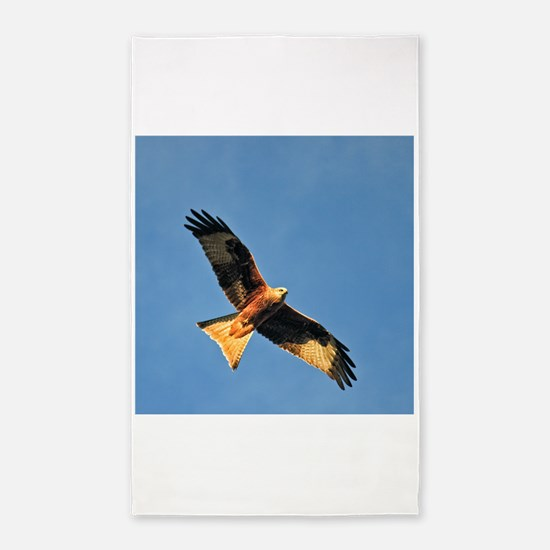 Flying Red Kite 3'x5' Area Rug
