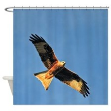 Flying Red Kite Shower Curtain