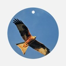 Flying Red Kite Ornament (Round)