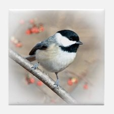 Carolina Chickadee Tile Coaster