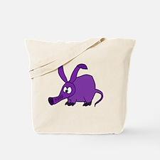 Cute Purple Aardvark Tote Bag