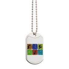 Snowboarder - distressed Dog Tags