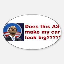 Does this ASS make my car look big bumper sticker