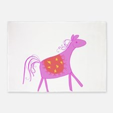 Pink Horse 5'x7'Area Rug