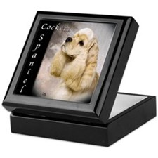 Cocker Spaniel-Buff Keepsake Box