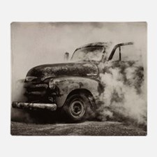 Burnout Pit Truck Throw Blanket