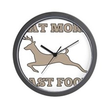 Eat More Fast Food Funny Hunting Wall Clock