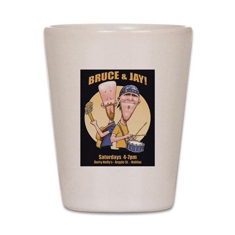Bruce and Jay Shot Glass