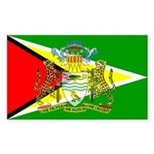 Guyana Flag Rectangle Decal
