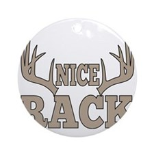 Nice Rack Funny Hunting  Round Ornament