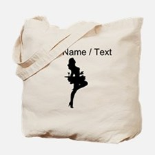 Custom Cocktail Waitress Silhouette Tote Bag