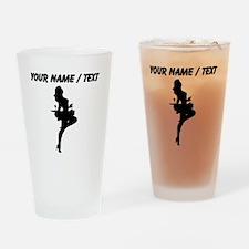 Custom Cocktail Waitress Silhouette Drinking Glass