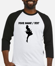 Custom Cocktail Waitress Silhouette Baseball Jerse