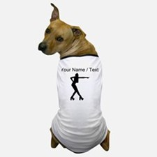 Custom Roller Derby Silhouette Dog T-Shirt