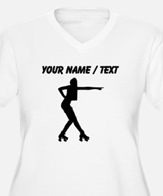 Custom Roller Derby Silhouette Plus Size T-Shirt