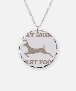 Eat More Fast Food Hunting H Necklace