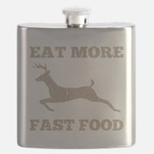 Eat More Fast Food Hunting Humor Flask