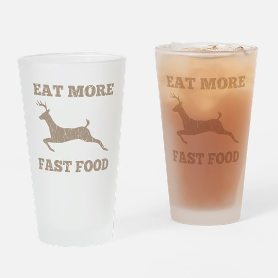 Eat More Fast Food Hunting Humor Drinking Glass