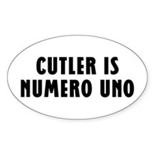 CUTLER IS NUMERO UNO Oval Decal