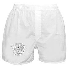 Bordeaux head design 1 Boxer Shorts