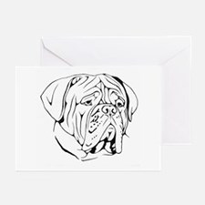 Bordeaux head design 1 Greeting Cards (Package of