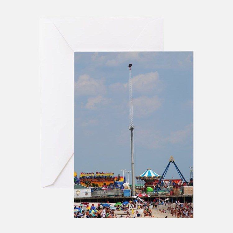 Seaside Heights Casino Pier  Greeting Card