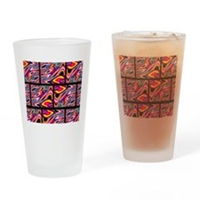 Retro Abstract Drinking Glass